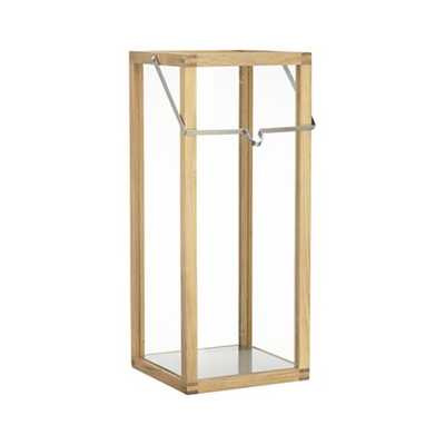 Crosby Large Teak Wood Lantern - Crate and Barrel
