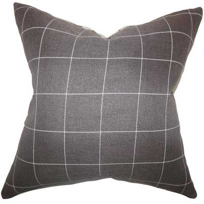 Ivo Plaid Brown Down Filled Throw Pillow - 20x20 - Overstock