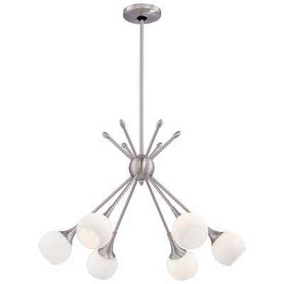Pontil 6 Light Chandelier - Brushed Nickel - AllModern