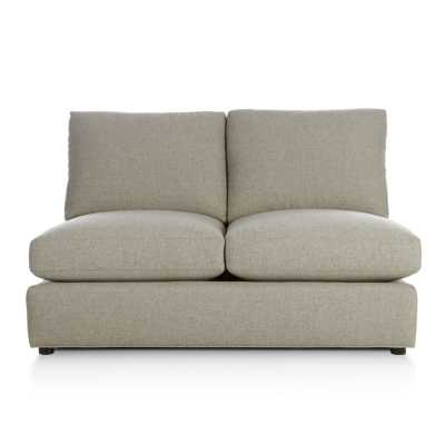 Ellyson Armless Loveseat- Notion-Cream Puff - Crate and Barrel