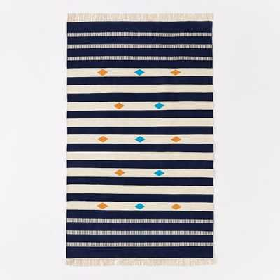 Steven Alan Geometric Stripe Cotton Kilim Rug - West Elm
