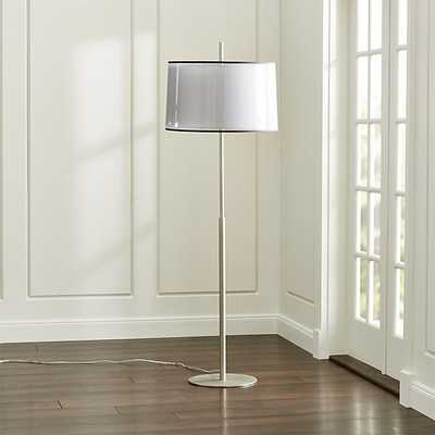 Eclipse Silver Floor Lamp - Crate and Barrel
