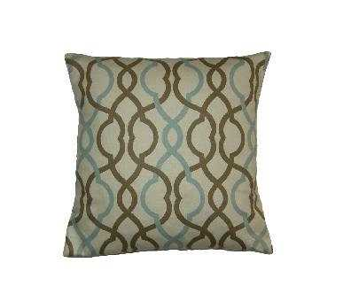 "Throw Pillow Cover - 18"" - Turquoise and Brown - Insert Sold Separately - Etsy"