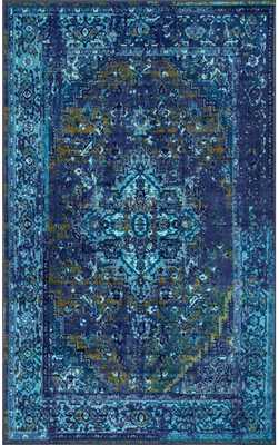 Ashlina Persian Overdyed Vintage Rug - Blue - 8' x 10' - Rugs USA