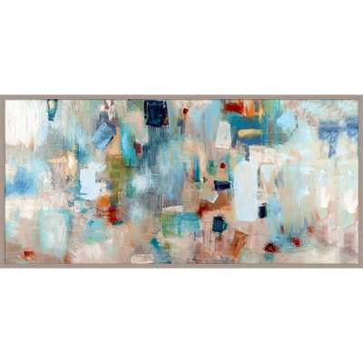"Jazz Abstract Giclée Framed Painting Print - 21.65"" H x 45.28"" W x 1"" D - AllModern"