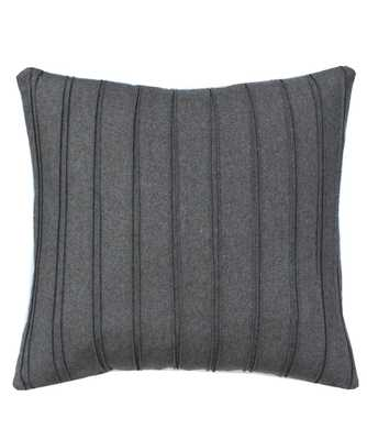 "Grey Pleated Throw Pillow - 19"" x 19"" - down insert included - High Street Market"