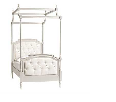 Blythe Tufted Canopy Bed, Full, Vintage Gray - Pottery Barn Kids