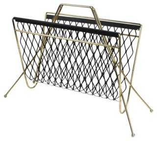 Mid-Century Modern Atomic Magazine Rack - One Kings Lane