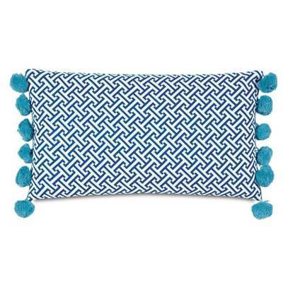 Epic Preppy Chive Navy Bolster - 22x13 - With Insert - Domino