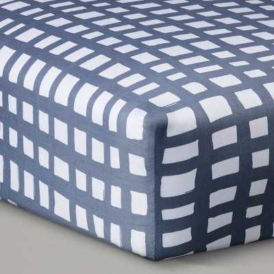 Oh Joy!® Woven Fitted Crib Sheet - Gray Grid - Target