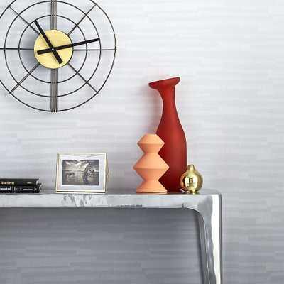 thatch textured self-adhesive wallpaper - CB2