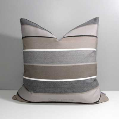Brown & Grey Outdoor Pillow Cover - Etsy