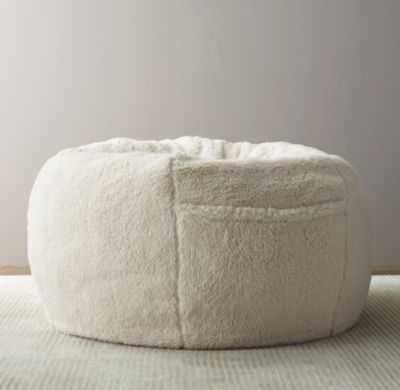 Luxe sherpa bean bag cover - RH Baby & Child