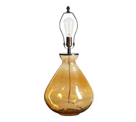 ALANA LUSTER GLASS TABLE LAMP BASE - AMBER - Pottery Barn