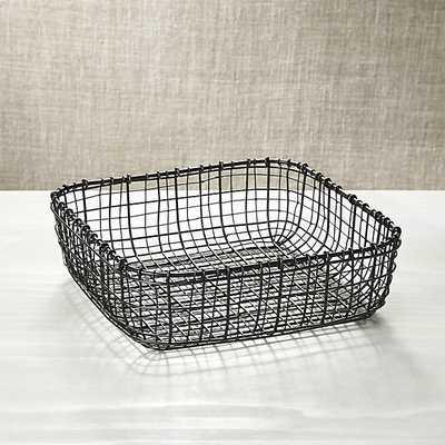 Bendt Square Basket - Crate and Barrel