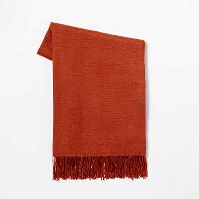 Warmest Throw - Yarn Dyed - Red - West Elm