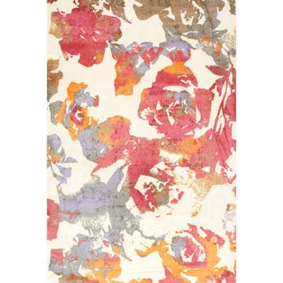 nuLOOM Contemporary Watercolor Roses Multi Rug - Overstock