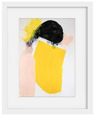 """Yellow September - 18"""" x 15"""" - Framed - Domino"""