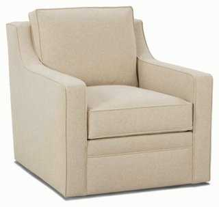 Clarence Swivel Chair, Sand - One Kings Lane