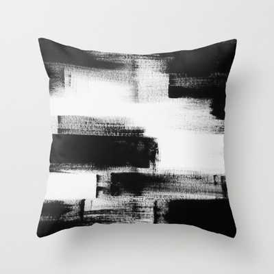 """Modern abstract black and white pillow -18''x 18""""-Insert included - Society6"""
