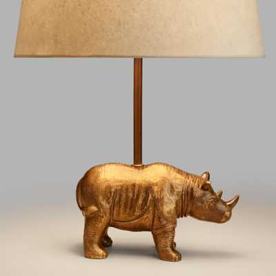 Brass Rhino Accent Lamp Base - World Market/Cost Plus