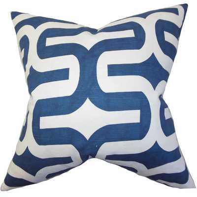 Jaslene Cotton Throw Pillow - Navy - 18x18 - With Insert - Wayfair