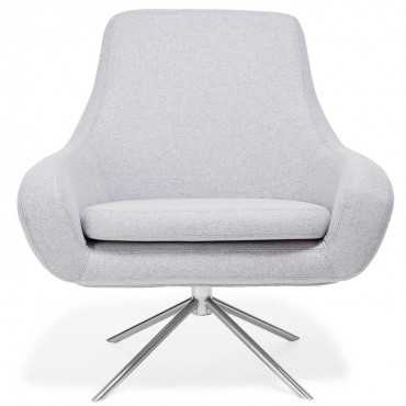 Softline gray swivel curved chair - ABC Home and Carpet