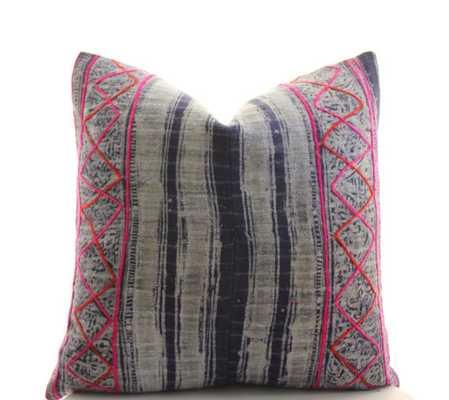 Indigo Batik Pink Geometric, 18x18, Insert sold separately - Etsy