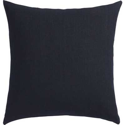"""Linon navy 20"""" pillow with feather insert - CB2"""