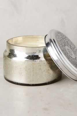 Colossal Capri Blue Mercury Glass Candle - Anthropologie
