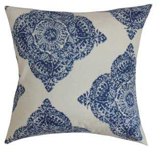 Suzie 18x18 Pillow, Blue - feather/down insert - One Kings Lane