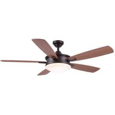 Daylesford 52 in. Oiled Rubbed Bronze LED Indoor Ceiling Fan - Home Depot