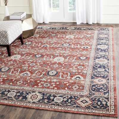 Safavieh Artisan Rust/ Navy Cotton Rug (8' x 10') - Overstock