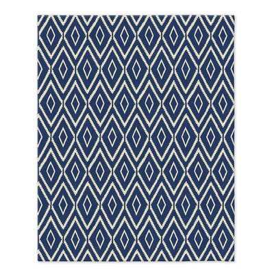 Kite Wool Kilim - True Blue - 5' x 8' - West Elm