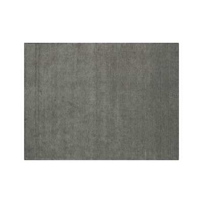 Baxter Grey Wool 9'x12' Rug - Crate and Barrel