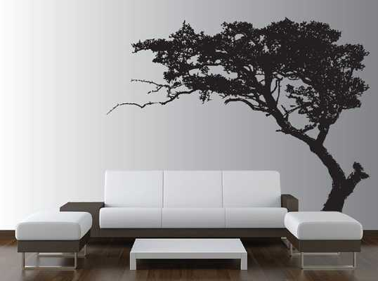 Large Wall Tree Decal Forest Decor Vinyl Sticker Highly Detailed Removable Nursery 1131-Black - Etsy