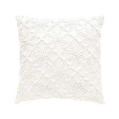 "Candlewick Cotton Throw Pillow - 18"" - Feather / Down insert - Wayfair"