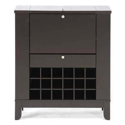 Modesto Brown Modern Dry Bar and Wine Cabinet - Overstock