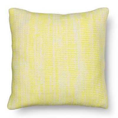 "Room Essentialsâ""¢ Citron Knit Decorative Pillow - Neon Yellow (Square) - Target"