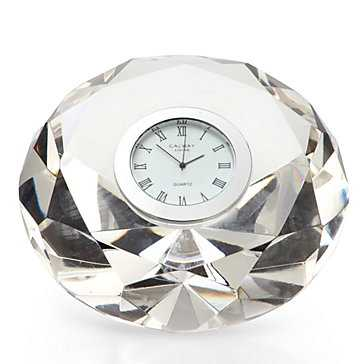Crystal Diamond Table Clock - Z Gallerie