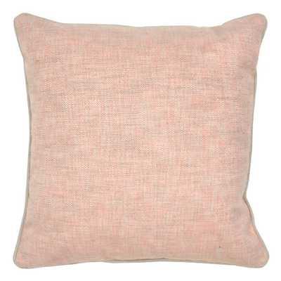 """Ciara Cotton Throw Pillow - 22"""" Sq. - Blush - Down/Feather insert - AllModern"""