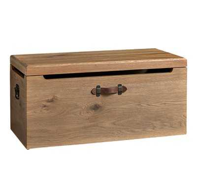Tucker Toy Chest, Smoked Oak - Add personalization - Pottery Barn Kids