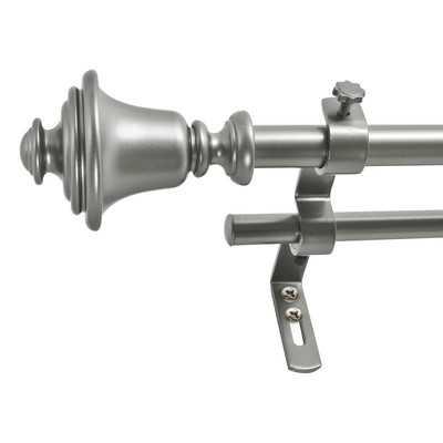 "Bell Double Curtain Rod & Hardware Set - 26""- 48"" - Wayfair"