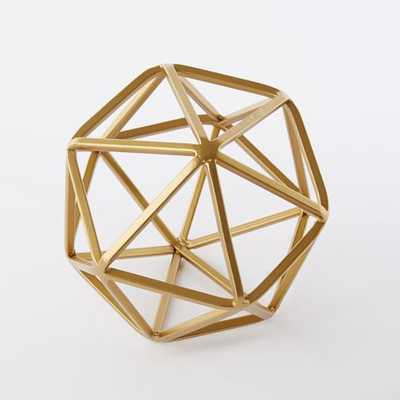 Symmetry Objects- Large-Gold - West Elm