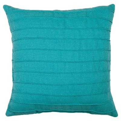 Outdoor Pillow - Turquoise Pleated -17.5L x 17.5W-  Polyester Insert - Target