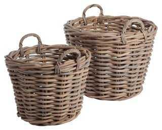 Asst. of 2 Tree Baskets, Gray - One Kings Lane