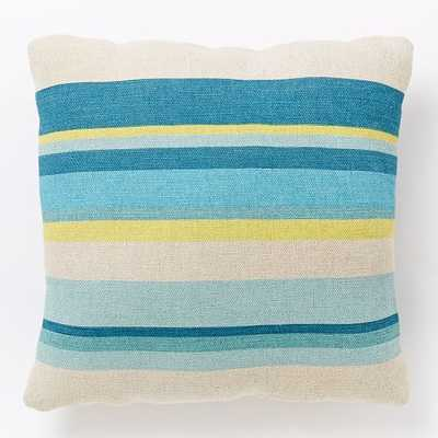 "Outdoor Multi Stripe Pillow - 20""sq - Insert included - West Elm"