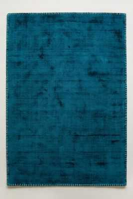 Whipstitch Rug - Turquoise, 5x7 - Anthropologie