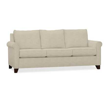 Cameron Roll Arm Upholstered Sofa - Textured Twill, Oatmeal - Pottery Barn