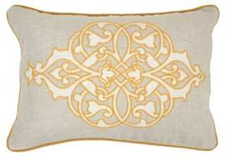 Motif 14x20 Embroidered Pillow, Gold - One Kings Lane
